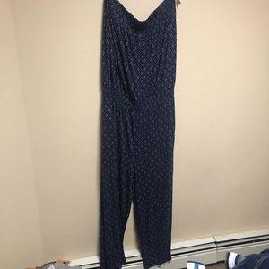 LOFT strapless jumpsuit
